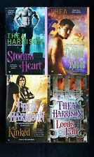 Lot Of 4 Thea Harrison Books - Elder Races Kinked Lords Fall Dragon Storms Heart