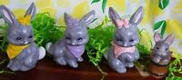 Easter Bunny Rabbits Figurines Set Of 4