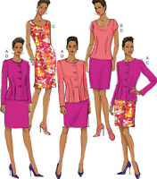 Misses Inverted-Dart Jacket, Top, Dress, Skirt Pattern Butterick B6184 Easy 6-14