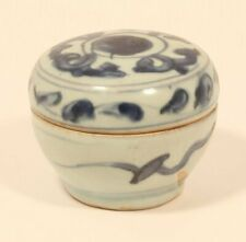 Ming Dynasty blue and white lidded box
