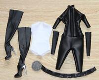 Custom 1:6 Scale Catwoman Jumpsuit Set for Hot Toys Phicen Kumik Female Body