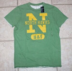 NWT Abercrombie Boys Large New York Athletic North Hawks Reversible SS T-Shirt