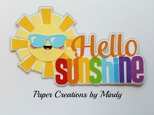 CRAFTECAFE MINDY HELLO SUNSHINE SUMMER  premade paper piecing scrapbook title