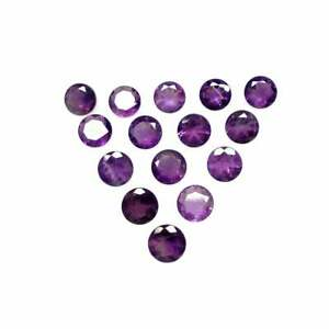 Lot Natural Purple Amethyst 12X12 mm Round Cut Faceted Loose Gemstone AB-15