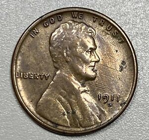 1911-S Lincoln Cent 1C Penny