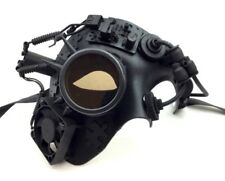 Black Steampunk Phantom Style Half Face Mask Men's Dieselpunk Costume Accessory