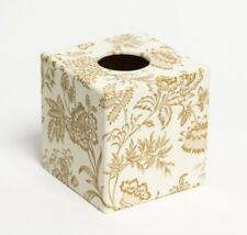 Gold Foliage Tissue Box Cover wood Handmade in UK Unique