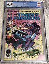 Transformers #6 (Marvel Comics, 7/85) CGC Graded 6.5