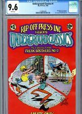 Underground Classics #1 CGC 9.6 Fabulous Furry Freak Brothers #0 Rip Off Press