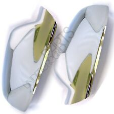 AUDI A3 A4 A5 CHROME SIDE WING DOOR MIRROR COVERS PAIR CASING CAPS LEFT & RIGHT