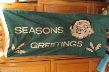 "Vintage John Leckie Limited Don Mills Ontario Seasons Greeting Flag 25"" X 52"""