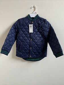 MWT Polo Ralph Lauren Little Boys Resistant Quilted Baseball Jacket Navy Size 6