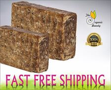 Pure Raw African BLACK SOAP Organic From GHANA - Premium Quality CHOOSE SIZE