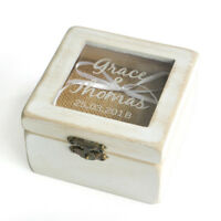 Custom Wedding Ring Box Personalized Ring Bearer Box Vintage Ring Holder Box