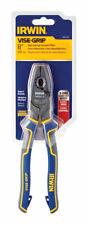 Irwin Vise-Grip 8in Alloy Steel Leverage Linemans Linesman Pliers Blue/Yellow