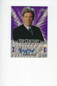 2019 Leaf Pop Century Signatures Harrison Ford Autograph 1/1 Purple