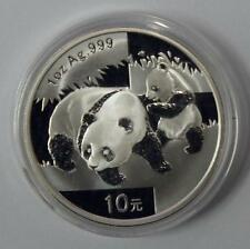 China 2008 Panda Silver Coin Genuine 1 OZ 10 Yuan UNC