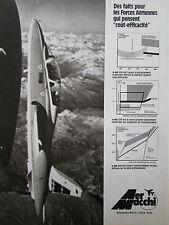 1977-1979 PUB AERMACCHI AVION MB-339 MILITARY JET TRAINER ORIGINAL FRENCH AD