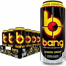 Bang Lemon Drop Drink Vpx Super Creatine Coq10 (12 Pack) Free Shipping Other