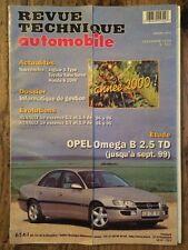 Revue Technique Automobile OPEL Oméga B 2.5 TD (jusqu'à Sept. 1999)