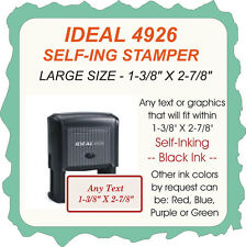 Trodat Printy / Ideal 4926 with any Custom text that fits, Self Ink Stamp