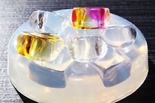 Clear-silicone Ring mold. 5pc-Size 7, 7.5, 8, 8, 9.5.  Free USA Shipping.(1-03)