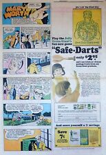 Green Giant ad page - Jolly Green Giant Dart Game - Sunday comic ad page - 1972
