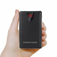 Portable 3 USB 50000mah LCD Power Bank External 2 LED Universal Battery Charger Black