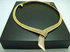 Vintage Collier 750 Gold 18 Kt Kette Brillantenkette 25,4 Gr. Diamant Halskette