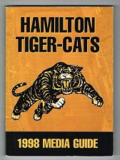1998 Hamilton Tiger-Cats CFL Canadian Football League Media GUIDE