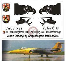 Peddinghaus 1/72 German F-104G Starfighter Kanarienvogel JaboG 33 Buchel 1374