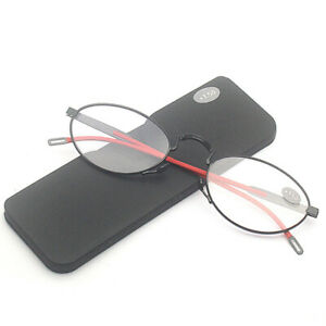Portable Ultra-thin Pocket Reading Glasses Anti-blue Paper Magnifier With case