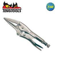 Teng 6in Long Nose Power Grip Pliers - 155mm Self Locking Mole Grips 404-6