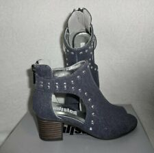 NEW UNLISTED KENNETH COLE Little Girls Ansley Stud Sparkle Denim Sandal