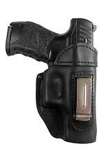IWB 3 Leder Gürtel Holster für Walther PPQ M2 Schwarz versteckt Trageweise