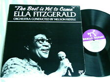 ELLA FITZGERALD Best Is Yet To Come Nelson Riddle Bill Watrous Joe Pass LP
