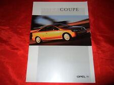Opel Astra G Coupe 1.8 16v 2.2 16v 2.0 16v turbo folleto + lista de precios 7/2000