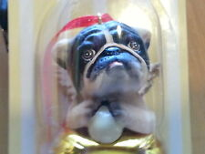 3 Pc Set BRITISH BULL Dog Figurines Brass Bells By DNC Collections Ornament Lot
