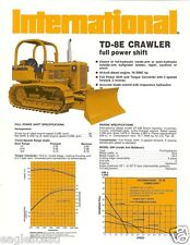Equipment Brochure - International - Td-8E Crawler Dozer - 1974 (Eb272)