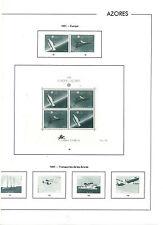 Azores Hojas EDIFIL año 1991-96 (BF-746)