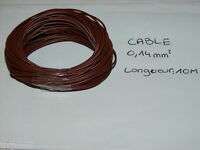 BOBINE 10 METRES DE CABLE ELECTRIQUE MARRON DE SECTION 0,14 mm POUR ACCESSOIRES