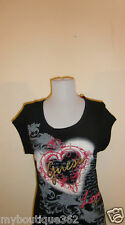NEW WITH TAG GUESS BLACK PRINTED GUESS LOVE FOREVER TEE