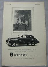 1953 Rolls Royce Original advert No.2