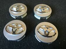 NEW TOYOTA SET 4 CENTER WHEEL WHEELS HUB HUBS CAP RIM RIMS CAPS 62MM SILVER GRAY