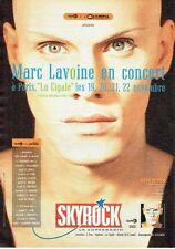 Publicité Advertising 057  1987  radio Skyrock Marc Lavoine en concert à  Cigale