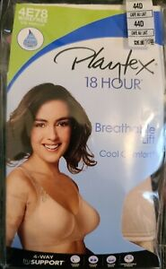 NWT 44D PLAYTEX 18 HOUR BRA WIREFREE BEIGE BREATHABLE LIFT COOL COMFORT 4E78