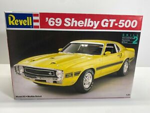 Revell 1:25 Scale 1969 Ford Mustang Shelby GT-500 Boxed Model Kit No Reserve