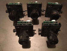 Lot of 5 Wren 12V Ac Cctv Camera Board w/ 4.0- 9.0mm Lens & Wires Bnc for Domes