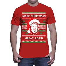 Make Christmas Great Again Trump President Holiday Ugly Sweater Mens T-Shirt