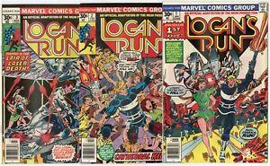 Logan's Run #1 - 7  Complete Set  avg. VF/NM 9.0  Marvel  1976  No Reserve